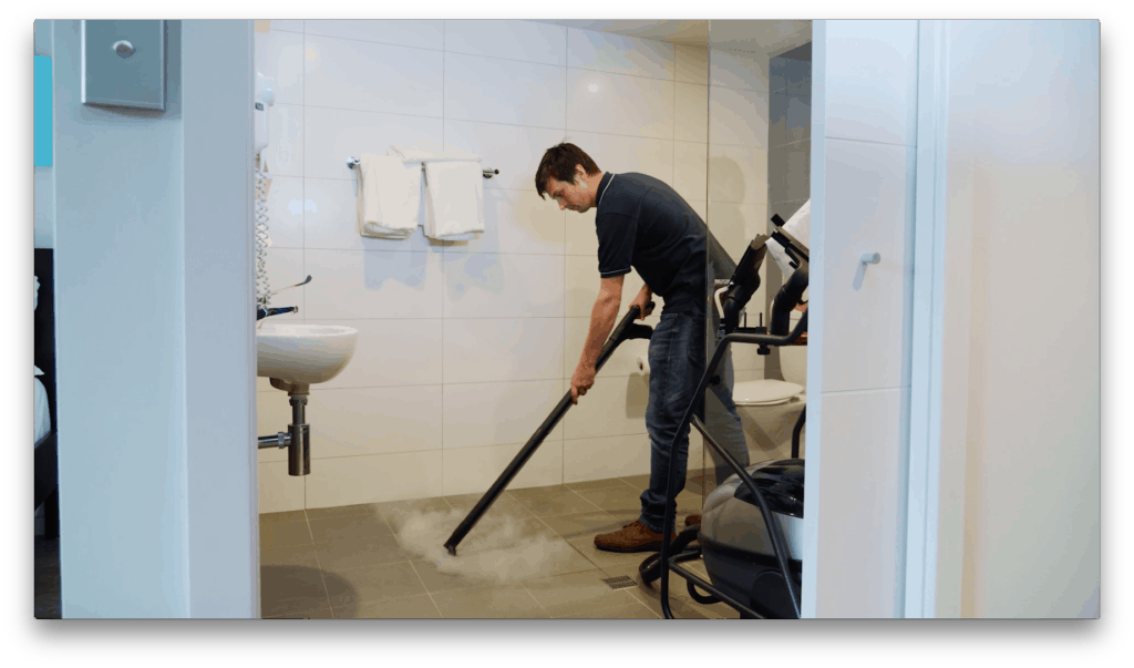 SV8D Bathroom Tiles & Grout cleaning with the power of dry steam