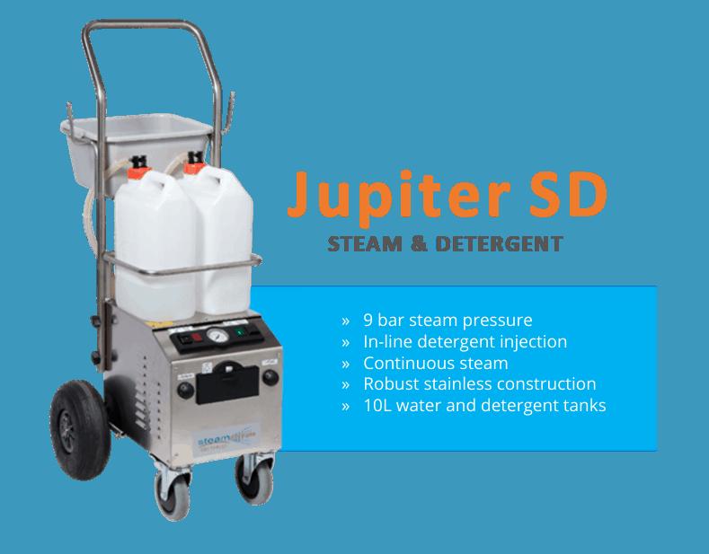 Jupiter SD Steam & Detergent 9 Bar industrial steam machine